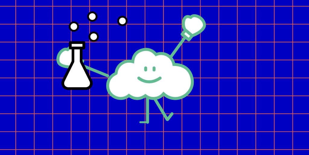 Eine Wolke der Wetter- und Klimawerkstatt Offenbach