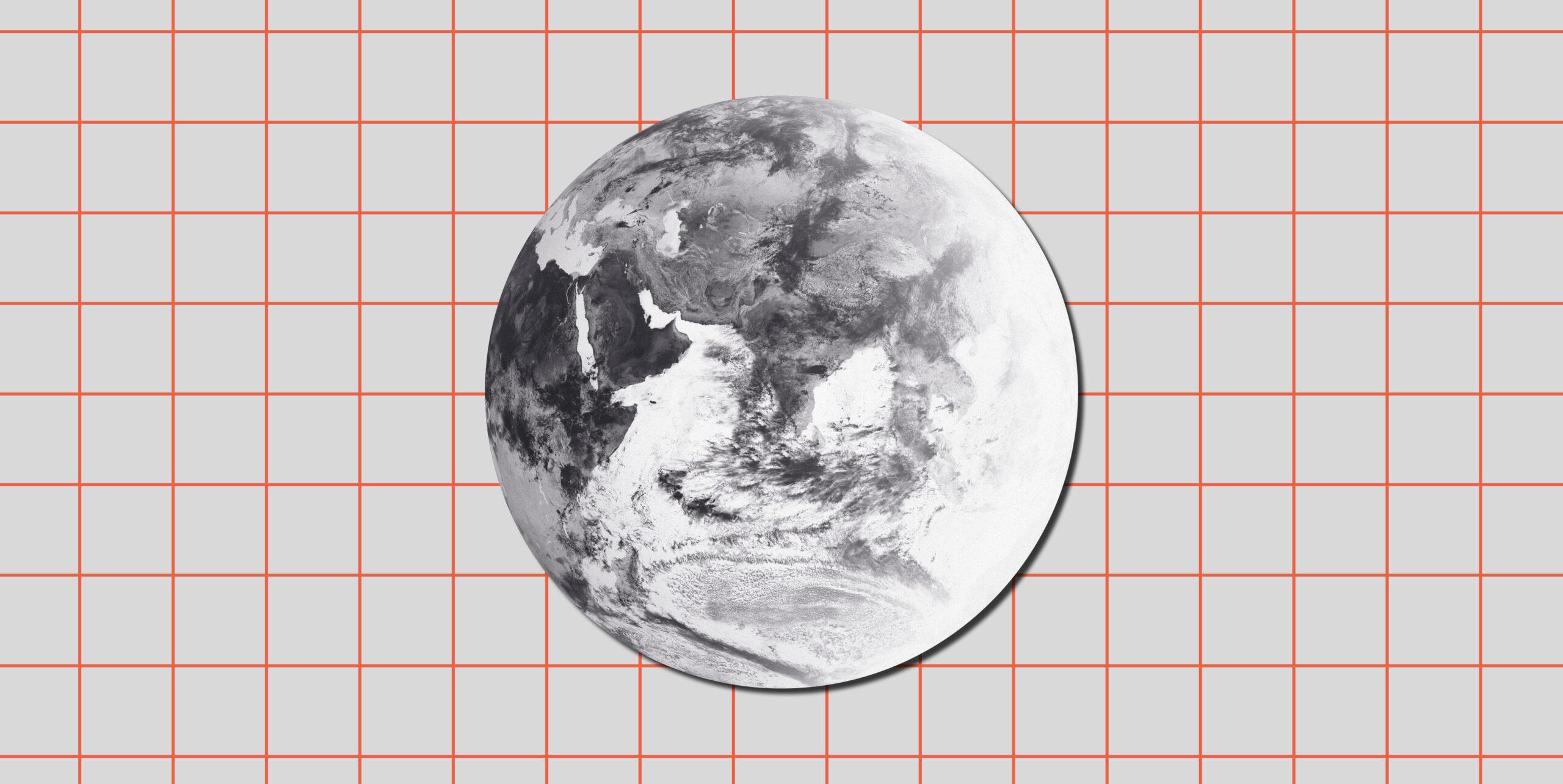 Eine Weltkugel der Wetter- und Klimawerkstatt Offenbach