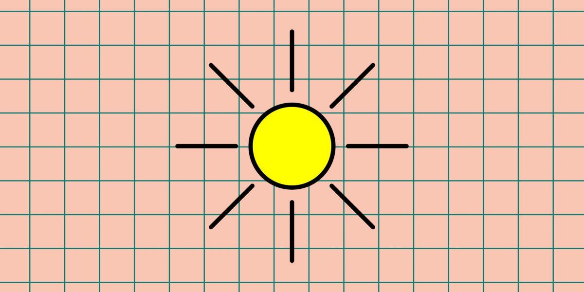 Eine Sonne der Wetter- und Klimawerkstatt Offenbach