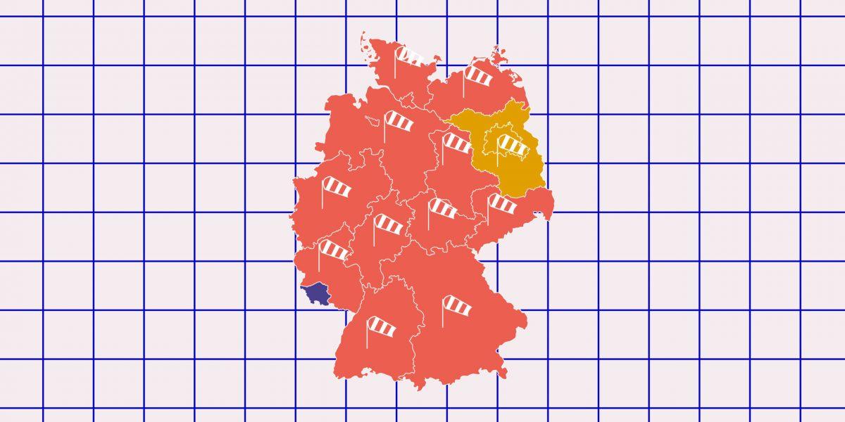 Eine Wetterkarte der Wetter- und Klimawerkstatt Offenbach